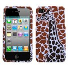 Giraffe Faceplate - Brown Giraffe Single Phone Protector Faceplate Cover For APPLE iPhone 4S/4/4G