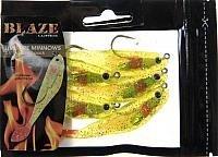 Blaze Rigged Livewire Minnow Lure, 3-1/2-Inch, Chartreuse Glitter/Firetail