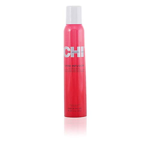 - CHI Shine Infusion Hair shine spray, 5.3 oz.