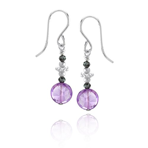 Pearl Honora Earrings (Nikini Collection Amethyst Earrings)