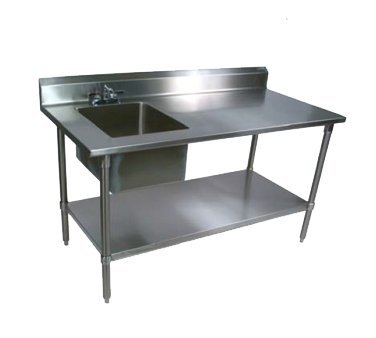 John Boos EPT8R5-3060GSK-L Work Table With Sink(s) - 60'' Stainless Steel by John Boos