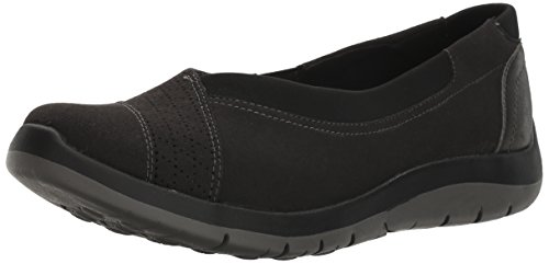 Aravon Women's Wembly Envelope Fashion Sneaker, Black, 7.5 B US