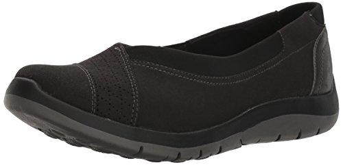 Aravon Women's Wembly Envelope Fashion Sneaker, Black, 7 D US
