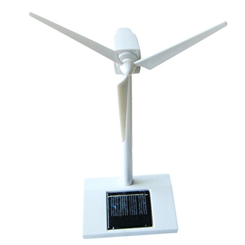 MonkeyJack Desktop Model Solar Powered Windmill Rotating Wind Turbine Model Toy Gift -