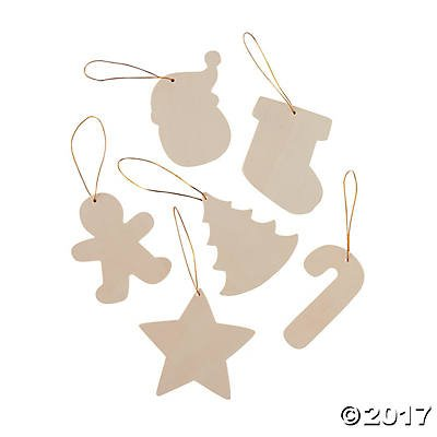 12 diy unfinished wood christmas ornaments to paint crafts for kids - Wooden Christmas Ornaments To Paint