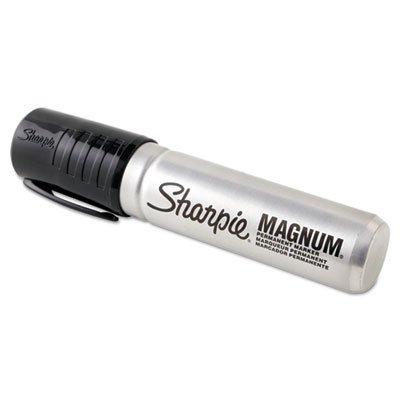 Sharpie Magnum Permanent Marker, Black, 6 PACK by Sharpie