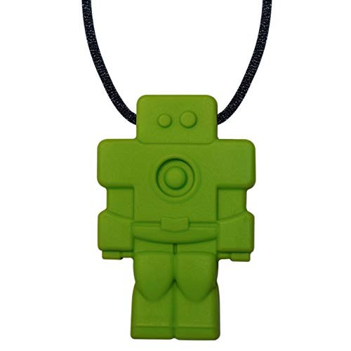 Robot Sensory Chewelry - Munchables Chew Necklace (Chewable Jewelry for Kids) (Green)