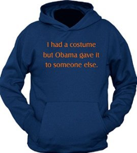 Hoodie: I Had A Costume But Obama Gave It Away Halloween navy Large -