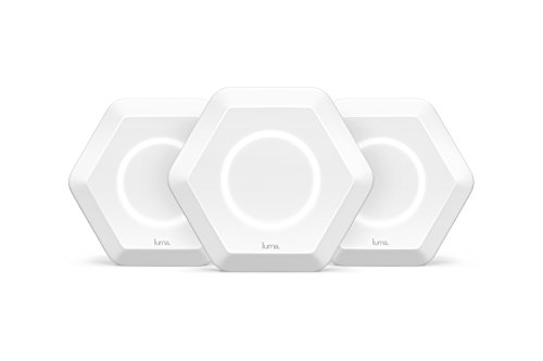 Luma Whole Home WiFi (3 Pack - White) -   Replaces WiFi Extenders and Routers, Free Virus Blocking, Free Parental Controls, Gigabit Speed by Luma