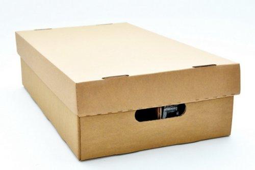 CD Pappbox musictools, Kiste für 100 CDs, Compact Disc Box aus Pappe mit Deckel