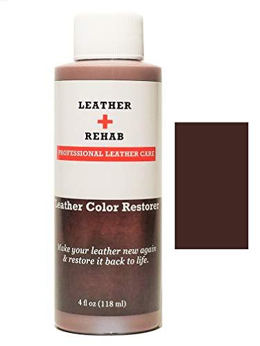 - Leather Rehab Leather Color Restorer - Repair & Restore Faded, Worn and Scratched Leather & Vinyl Easily with No Kit - Furniture, Couch, Car Seat, Shoes, Jacket and Boots - 4 oz. Espresso Brown