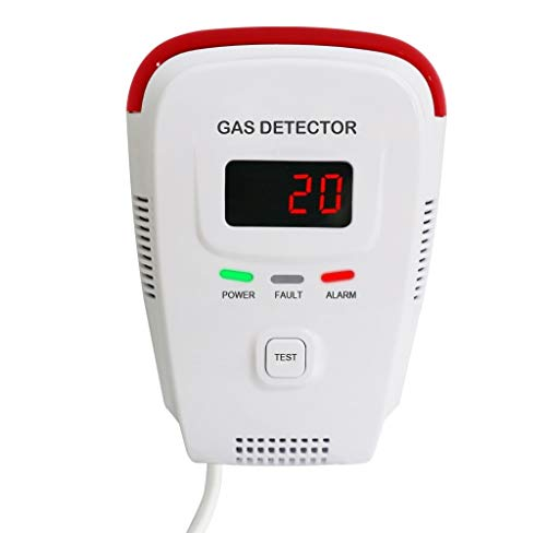Fume Detector - Natural Gas Detector/Gas Detectors Alarms/Home Gas Leak Alarm/Tester Sensor Combustible Gases: Propane,Methane,CH4, LPG,Butane,Coal Gas/Voice/LED Display/Explosive Gas Detector