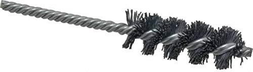 5-1//2 OAL 2-1//2 Brush Length Silicon Carbide Abrasive 7//8 Brush Diam Weiler 320 Grit Single Spiral Tube Brush 6 Pack