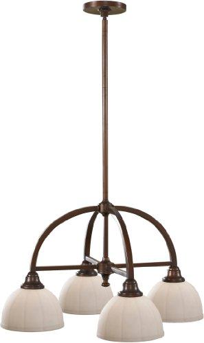 Feiss F2582/4HTBZ Perry Downlight Chandelier Lighting, Bronze, 4-Light (24