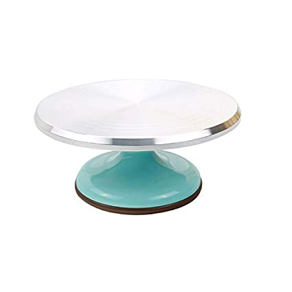 Silver SN4151 Aluminium Alloy SANNENG 12 Revolving Cake Stand DIY Handmade Baking Supplies Cake Decorating Supplies Rotate Table