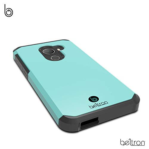 "Jitterbug Smart2 Case, Slim Protective Phone Cover, Dual Layer Protection Hybrid Rugged Case (BELTRON Case for Jitterbug Smart 2 Easy-to-Use 5.5"" Smartphone for Seniors by GreatCall) (Teal Mint)"