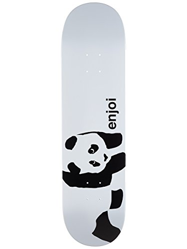 (Enjoi Whitey Panda Logo Wide R7 Skateboard Deck - Whitey - 8.375