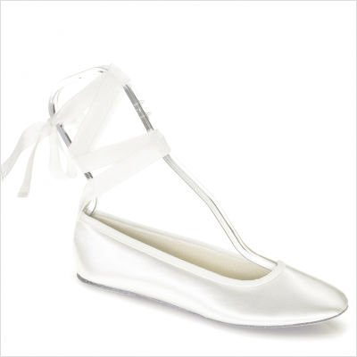 Touch Ups Women's Beth Flat Shoes,White Satin,7 ()