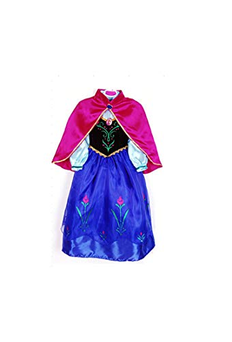 Girl Costume Christmas Anna Elsa Cosplay Princess Elsa Dress for Birthday Party,As Picture12,4T]()