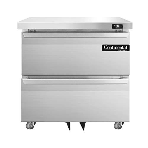 Continental Refrigerator DL32-SS-U-D Designer Line Single Section Undercounter Refrigerator, 32