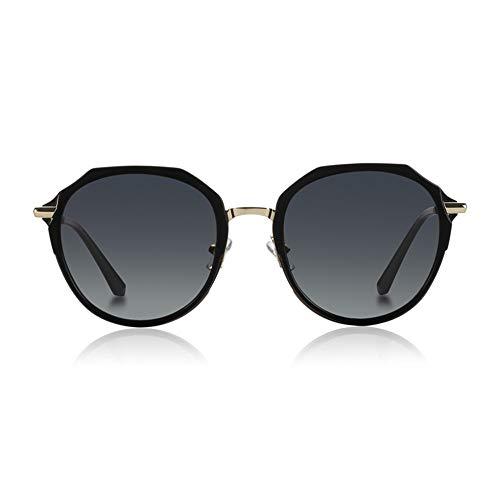 KHIAD de Espejo Mujer Tendencia Color polarizadas Mujer Sol Gafas de película Moda Caja de la Gafas de conducción r0xr6H