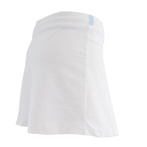 Niña y mujer Tenis/quemador Hockey/unidad Rock con Arrugas y integrada para pelota (Skort) en (Tallas: 110–XXL), color blanco Blanco blanco Talla:extra-large