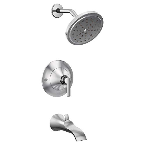 Moen TS2203EP Doux Collection Posi-Temp Pressure Balancing Tub and Eco-Performance Shower Trim Kit, Valve Required, Chrome