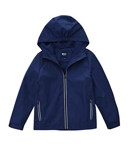 (M2C Boys & Girls Hooded Outdoor Fleece Lined Waterproof Jacket Navy 6/7)
