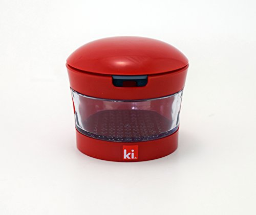 Kitchen Innovations Garlic Perfection Press, Crusher, Mincer, and Storage Container - Easy to Clean - Stainless Steel Blades - Red by Kitchen Innovations