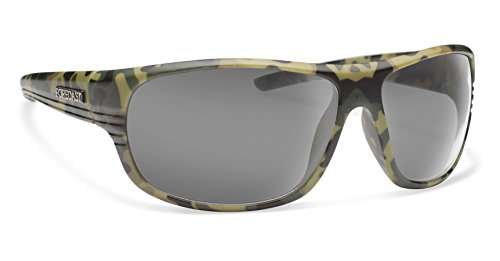 Forecast Optics Scout Sunglasses, One Size, Green Camo Frame, Gray - Bum Glasses Frames