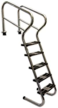 Ideal - Escalera para piscina, acero inoxidable, 5 unidades ...