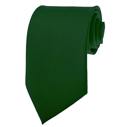 Hunter Green Necktie SOLID Mens Neck Tie Satin ()