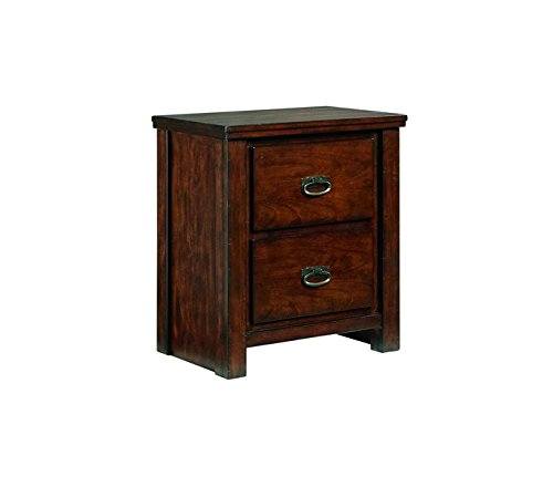 Ashley Furniture Signature Design - Ladiville Nightstand - 2 Drawer - Rustic Brown