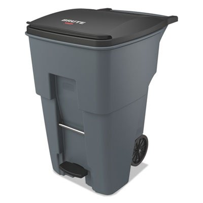 Rubbermaid Commercial 1971991 Brute Step-On Rollout Trash Can, 95 gal/360 L, 46.020