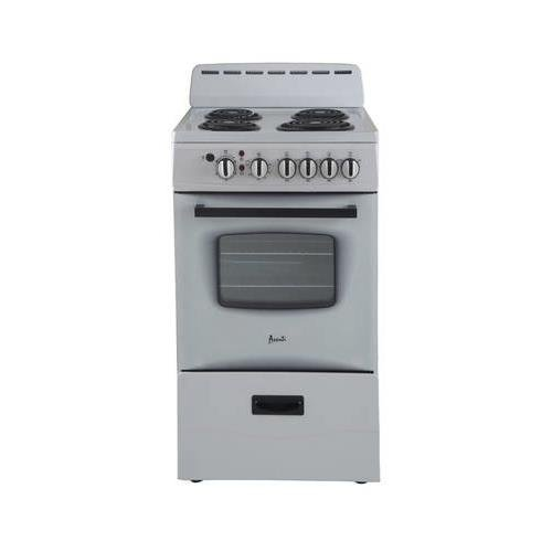 Avanti ER20P0WG - 20'' Electric Range White