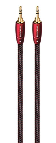 AudioQuest Golden Gate 6.6' 3.5mm-to-3.5mm Audio Cable Black/Red GOLDG02M