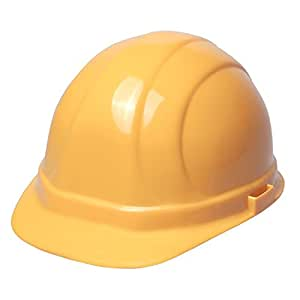 ERB 19132 Omega II Cap Style Hard Hat with Slide Lock, Yellow