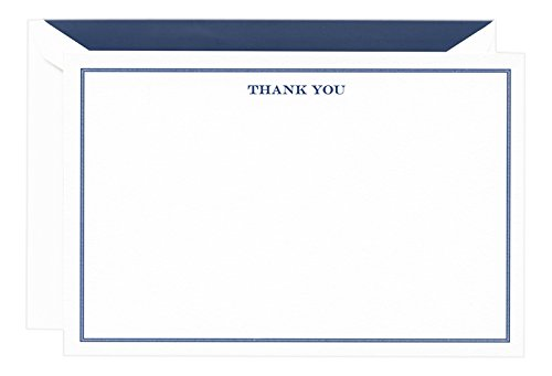 Border Card (Crane & Co. Engraved Shaded Border Thank You Note (CT3655))