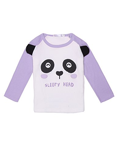 Arshiner Kids Girl O-Neck Long Sleeve Print Patchwork Cute T-Shirt - C 130 Patch