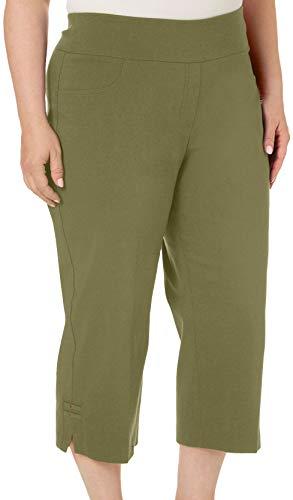 Capri Hearts Pants (Hearts of Palm Plus Island Treasures Tech Stretch Capris 18W Green)