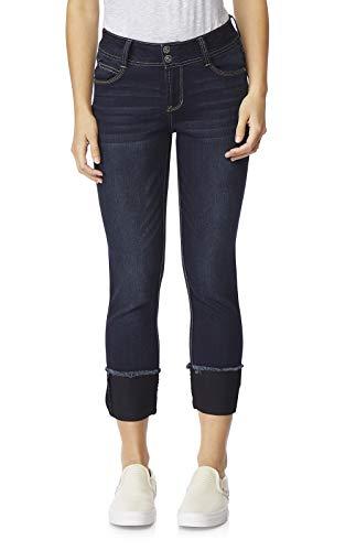 WallFlower Women's Juniors Luscious Curvy Deep Cuff Ankle/Capri Jeans in Kaylee, 5
