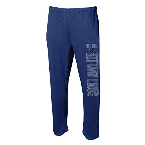 Concepts Sport Men's NCAA Vintage Retro-Squeeze Play-Pajama Pants-Heathered-Penn State Nittany Lions-Dark Blue-XL