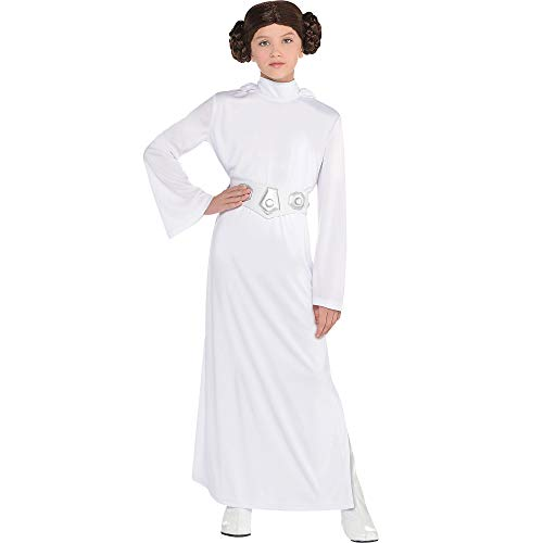 Costumes USA Star Wars Princess Leia Costume for Girls, Includes a Dress with a Hood, a Wig, and a Belt