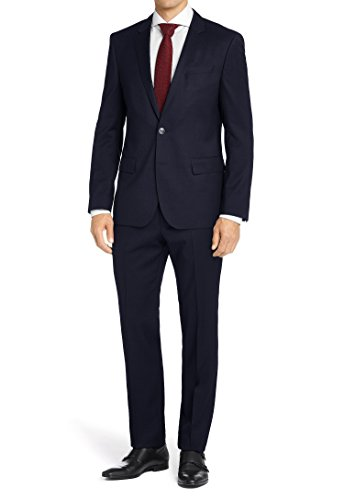 MDRN Uomo Mens Classic Fit 2 Piece Suit, Navy, Size 50Lx44W by MDRN Uomo