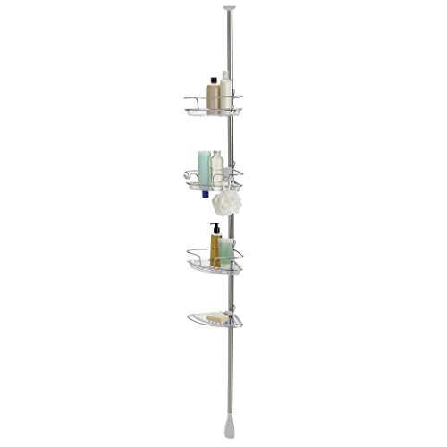 OXO Good Grips Lift and Lock Stainless Steel Tension Pole Shower Caddy by OXO