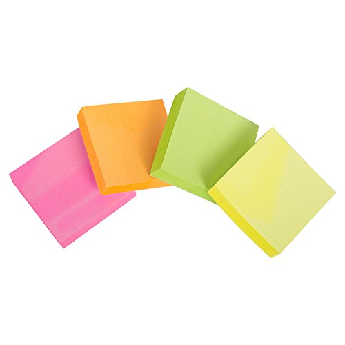 - Office Works, 100 Sheets Sticky Post-It Notes, 3 x 3 inches, Multicolor, 48 Pieces