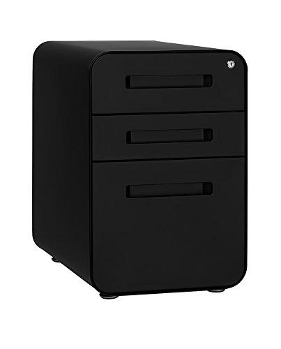 Stockpile 3-Drawer File Cabinet (Black)