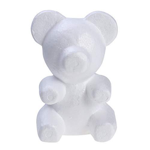 (BESTOYARD Polystyrene Styrofoam Foam Bear White Craft Foam Balls for DIY Craft Wedding Party Decoration Flower Arranging (Height 20cm/Base Width)