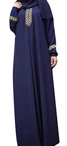 Stampa Caftano Musulmano Domple Blu Delle Caftano Islamico Donne Moda Vestito Abaya Maxi 1q5nwdxr5v