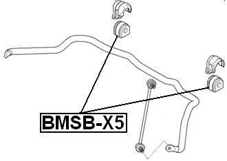 Front Sway Bar Bushing Stabilizer D29 FEBEST BMSB-X5 OEM 31351097021